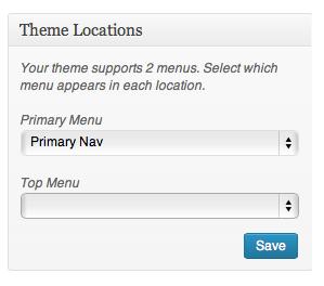 Menus Theme Locations