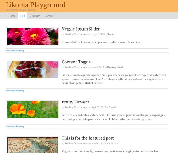 WOO Canvas Blog Template