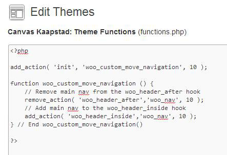 Editing the functions.php file can be a dangerous--although powerful--operation. Careful in there!