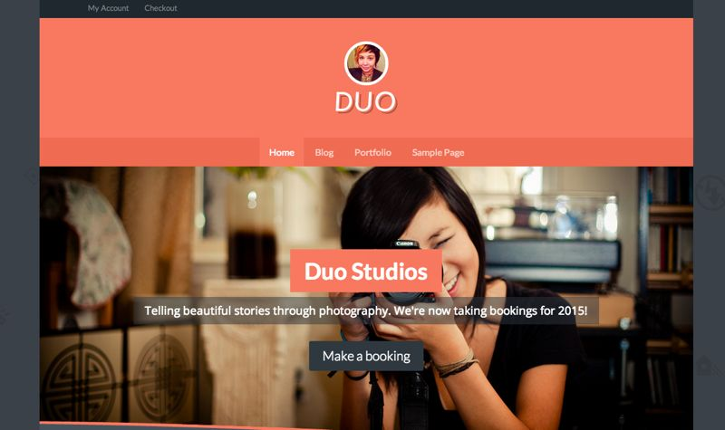 Duo is a Canvas child theme for small business that sell services.